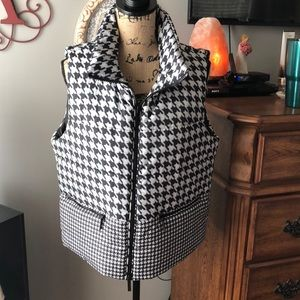 New! Michael Kors Houndstooth Vest XL